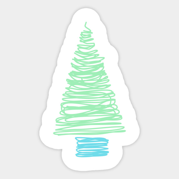 Minimalist Christmas.Minimalist Christmas Tree Drawing
