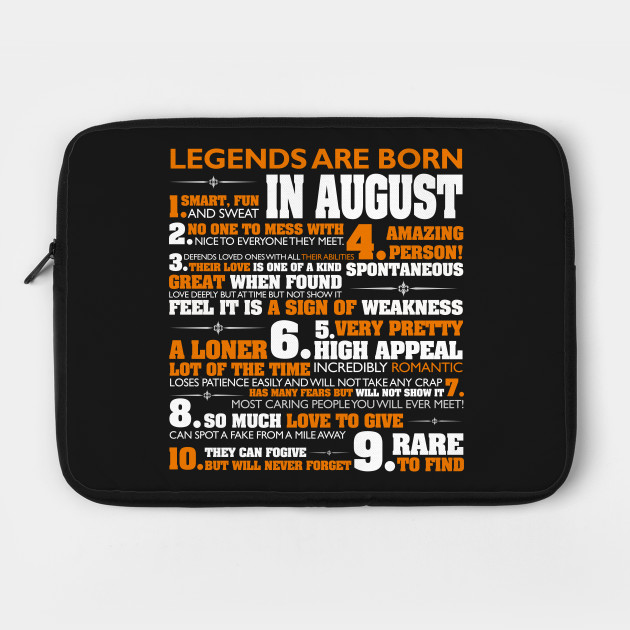 Legends are born in August T Shirt Cancer Pride Birthday Gift