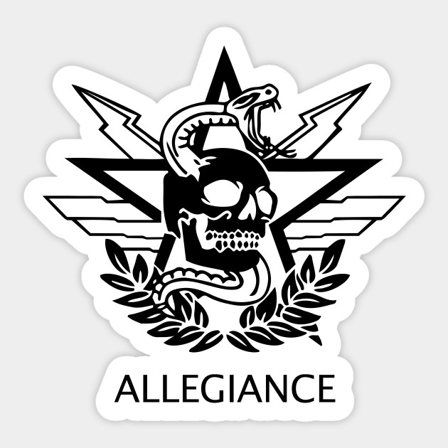 Allegiance Call Of Duty Modern Warfare Sticker Teepublic