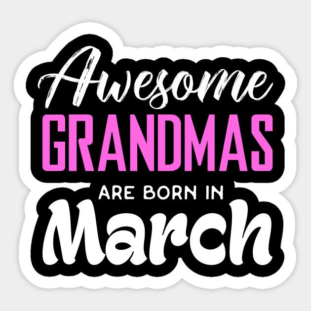 Grandma Birthday Shirts Sticker