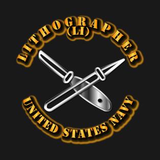 8e34a1e5c8 Main Tag Navy Rate Lithographer T-Shirt