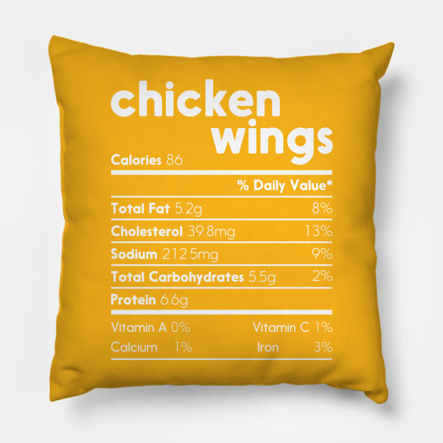 Chicken Wings Nutrition Facts Funny Thanksgiving Costume