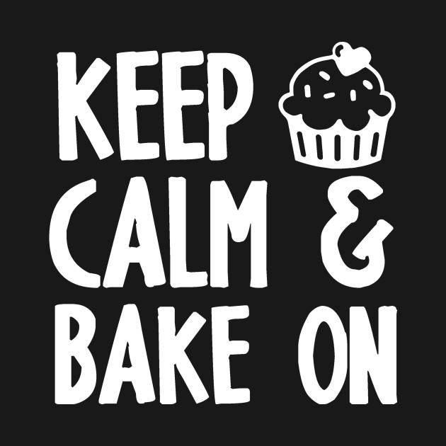 Printed Hoodie Keep Calm and Bake Cake
