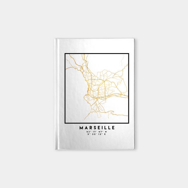 Marseille France City Street Map Art Marseille Notebook Teepublic