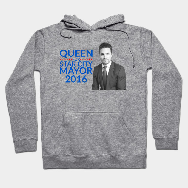 Queen For Star City Mayor 2016 - Oliver Queen Edition Hoodie