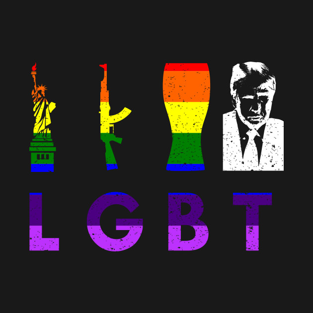 Image result for lgbt liberty guns beer trump