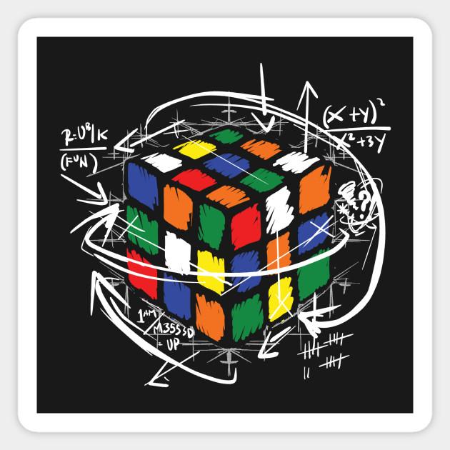 Rubiks Cube Instructions Rubiks Cube Sticker Teepublic