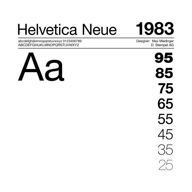 Helvetica Neue Typography Font Graphic Design