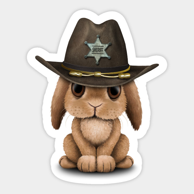 04a864d81 Cute Baby Bunny Rabbit Sheriff