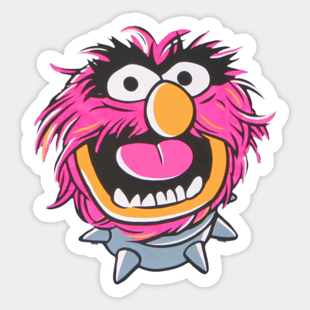 Muppets Animal Free Printable: Muppets Animal Head - Muppets - Sticker