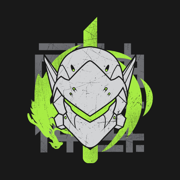 Genji Face Green Dragon Emblem