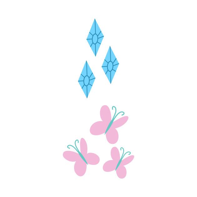 My little Pony - Fluttershy + Rarity Cutie Mark V2