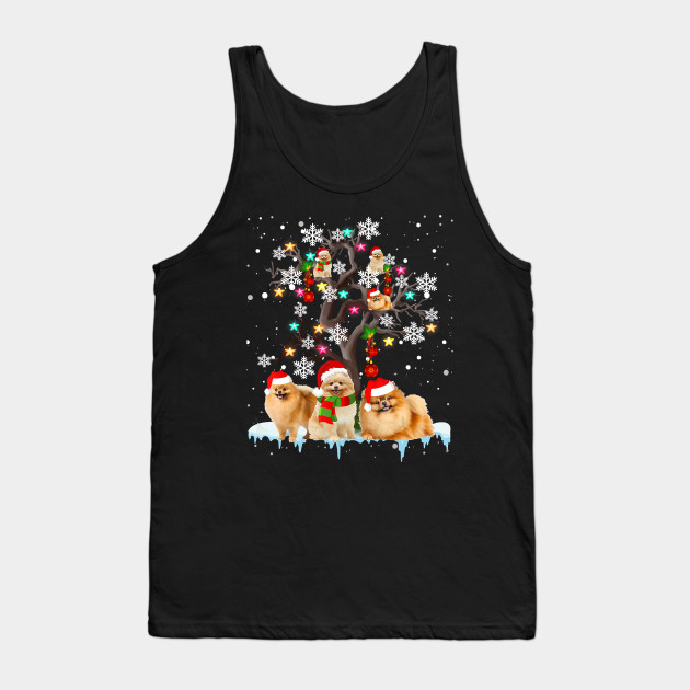 Funny Christmas Pomeranian Christmas Tree Ornament Christmas Gifts Tank Top