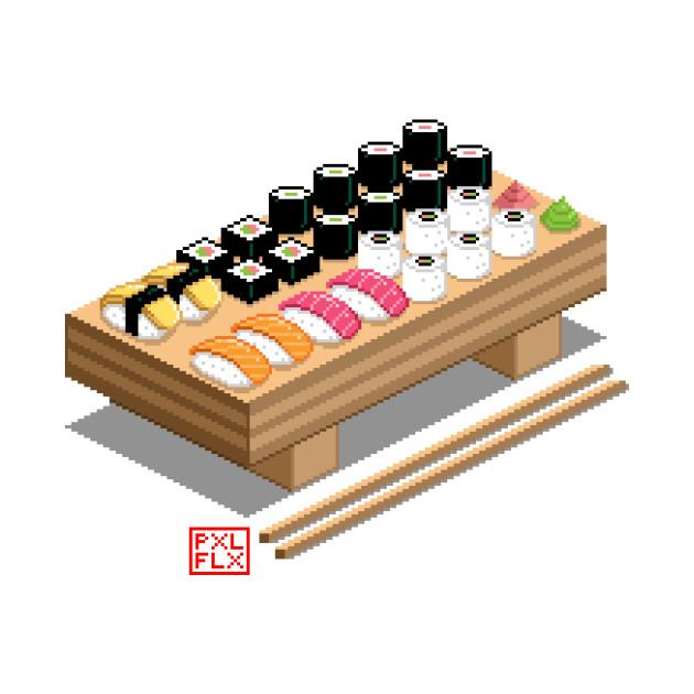 Isometric Pixel Art Sushi