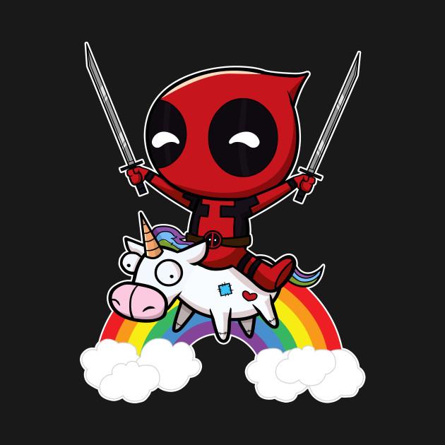riding a unicorn - deadpool