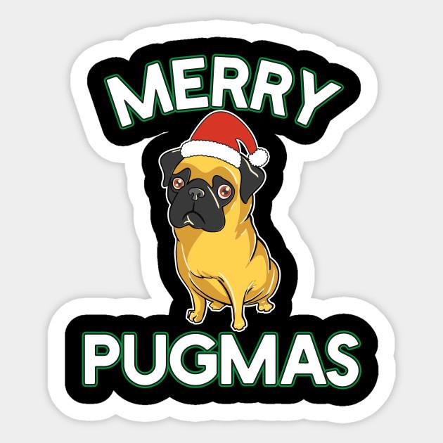 ed9b4db4 Funny Merry Pugmas T-Shirt Christmas Pug Lover Gift Kids - Christmas ...