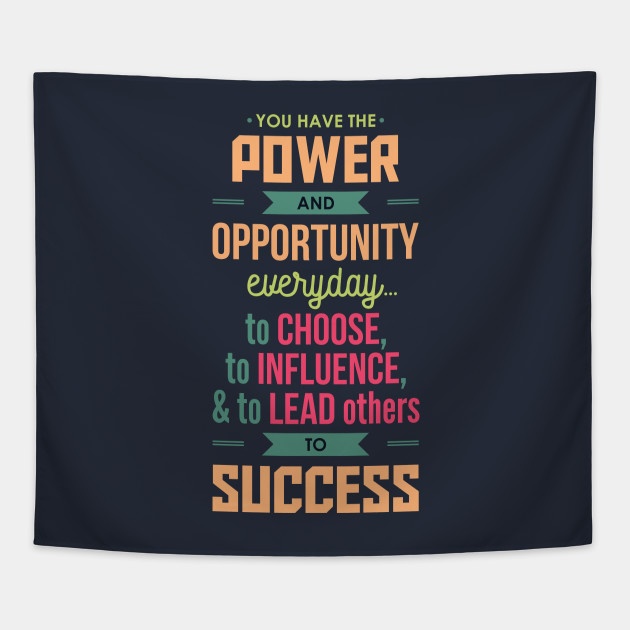 Power And Opportunity To Succeed Inspirational Typography