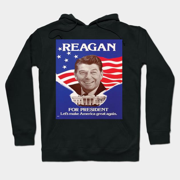 ronald reagan lets make america great again us president hoodie