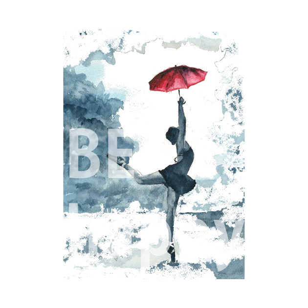 be happy dance with umbrella