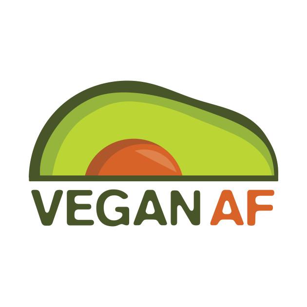 Vegan AF / Funny Vegan / Avocado Vegan / Retro Vegan / Vintage Vegan