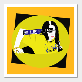 Plakaty I Druki Artystyczne Billie Eilish Teepublic Pl
