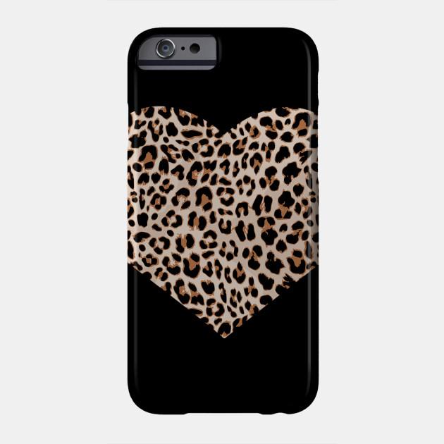 be50100dea45 Cheetah Leopard Heart t-shirt Cool Animal Print Love Symbol Phone Case