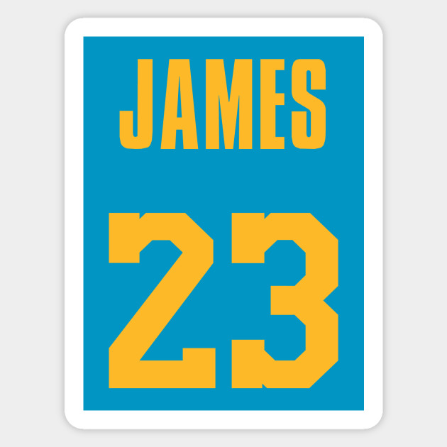 c853df6b6 LeBron James MPLS Lakers Jersey - Lebron James - Sticker