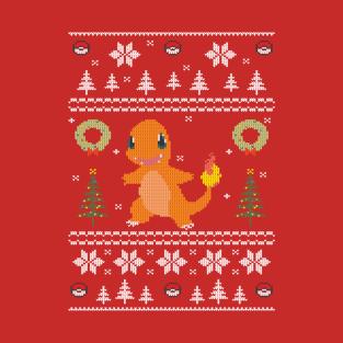 Ugly Christmas Sweater Pokemon Starter t-shirts