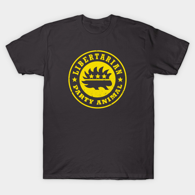 05fdbef622b4 Libertarian ☆ Party Animal Gold - Libertarian - T-Shirt | TeePublic
