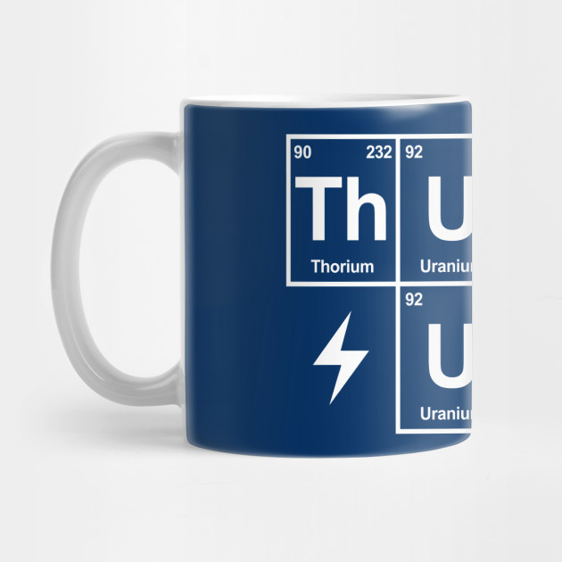 Thunder Up, Periodic Table - Navy Mug