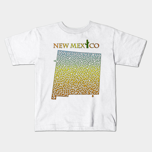 2e72dd20778 State of New Mexico Colorful Maze - New Mexico - Kids T-Shirt ...
