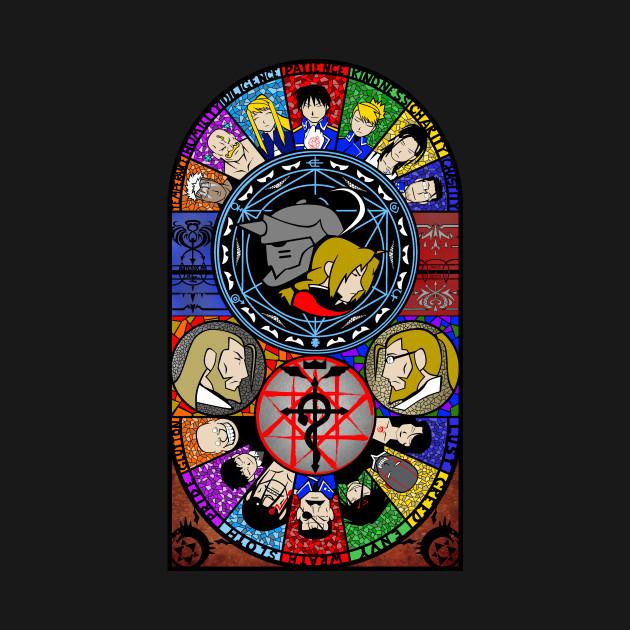 Fullmetal Alchemist Stained Glass