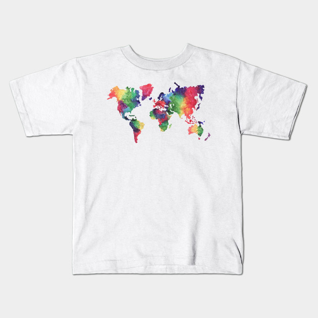 Rainbow world map world map kids t shirt teepublic 547362 1 gumiabroncs Images
