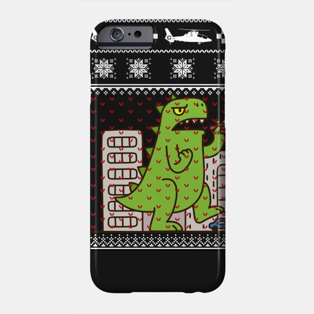Godzilla Ugly Christmas Sweater Godzilla Phone Case Teepublic
