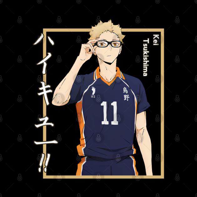 Haikyuu!!: Kei Tsukishima with Shadow-Colored Background