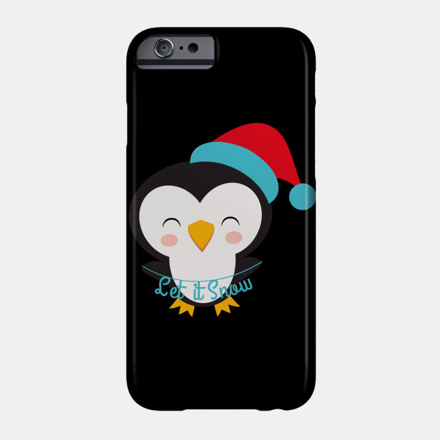 Christmas Penguins Let it Snow Christmas Penguin Phone Case