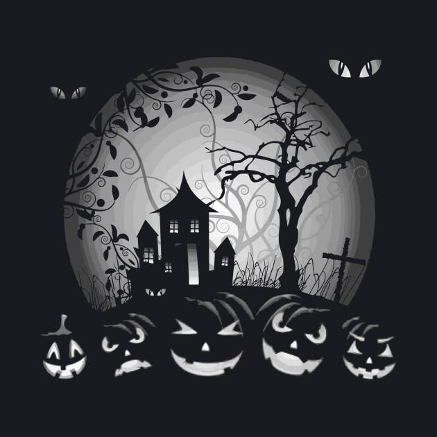 Scary Pumpkin - Happy Halloween Party