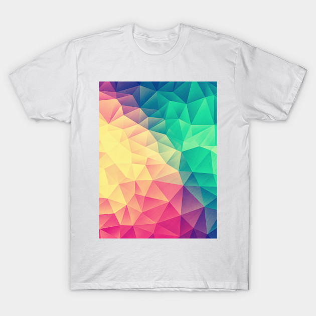 342e43563939 Color bomb! Abstract Polygon Multi Color Cubism Low Poly Triangle ...