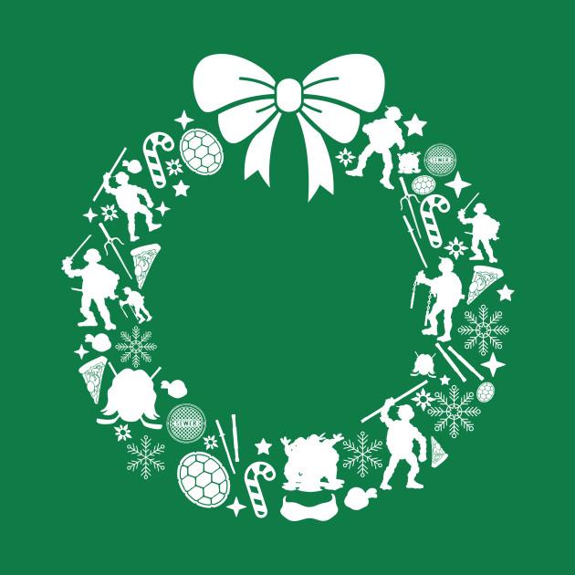 Teenage Mutant Ninja Turtles Christmas Wreath Pattern