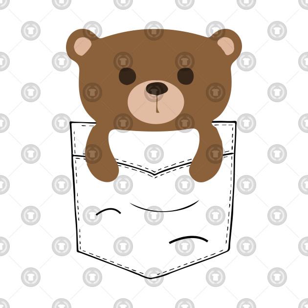 Pocket Teddy Bear Little Teddy Gift Shirt Teddy Bear Tank Top