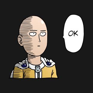 (OPM) Saitama OK - Colored +Text t-shirts
