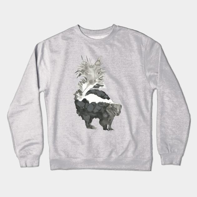 14e1540f8c67 Skunk Painting - Animal - Crewneck Sweatshirt