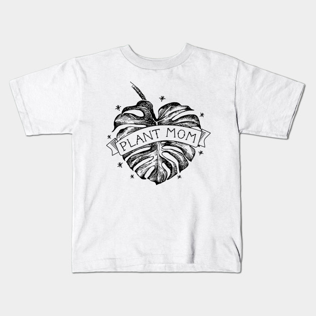 25cb3e154 Plant Mom Vintage Monstera Heart Tattoo - Black - Houseplants - Kids ...