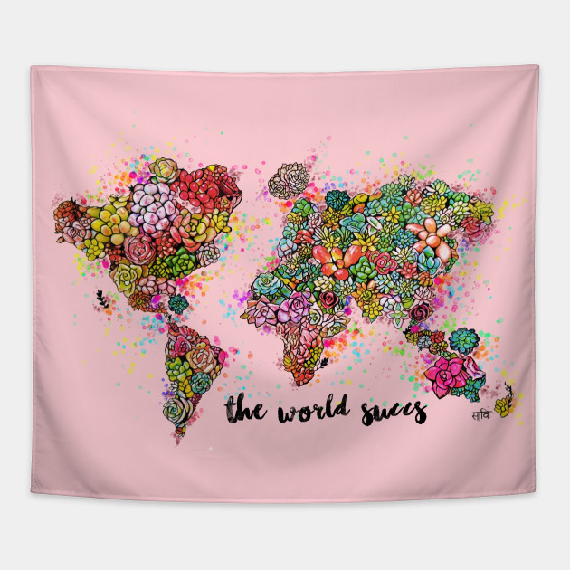The world succs succulent world map rose gold map tapestry 2161048 1 gumiabroncs Images
