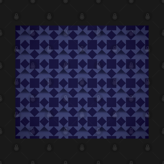 Blue Lotus Abstract Pattern