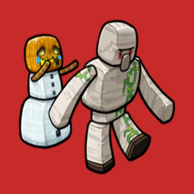 Please Iron Golem don't go || Minecraft ArtWork ||