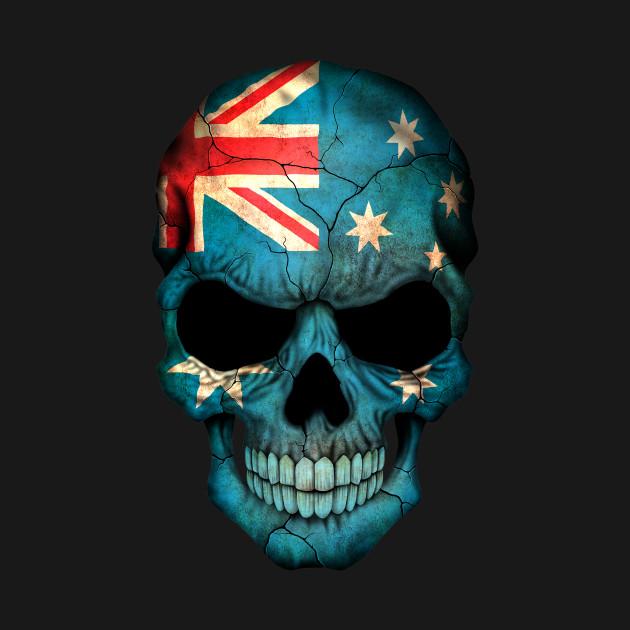 australian flag skull australia t shirt teepublic