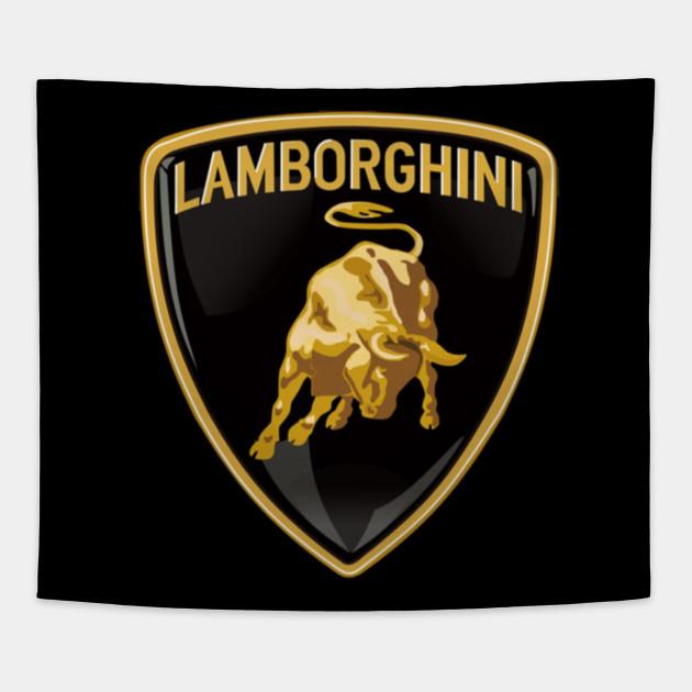 Lambo Lamborghini Car Logo Tapestry Teepublic
