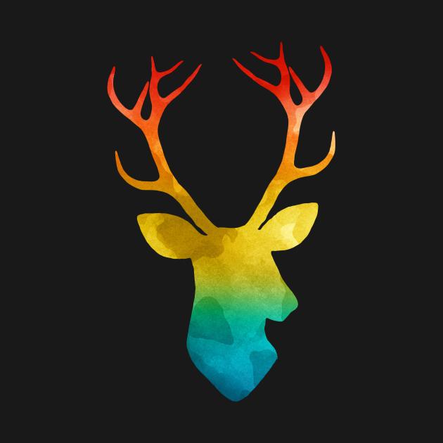 Colourful deer