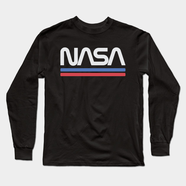 NASA Worm Red Logo T Shirt Mens Space Astronaut Vintage Style Retro Tee New